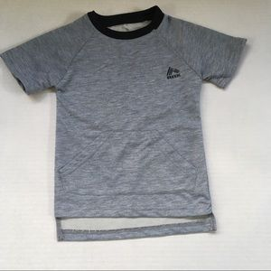 RBX heathered grey stepped hem toddler tee
